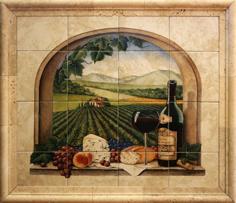 wall murals for kitchen ceramic tile murals for kitchen or barbeque backsplash and