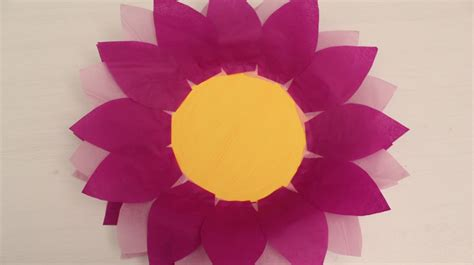 craft work with tissue paper how to make paper plate and tissue paper flower