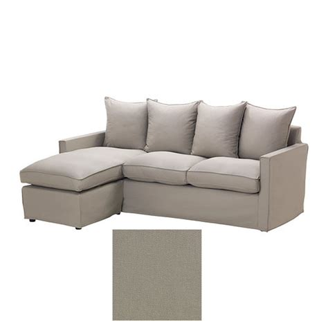sofa with chaise slipcover ikea harnosand 2 seat loveseat sofa with chaise slipcover