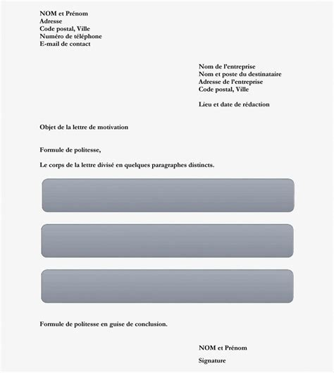 Modification Du Contrat De Travail Pour Raison Personnelle by Comment Faire Une Lettre De Motivation Le Guide Complet