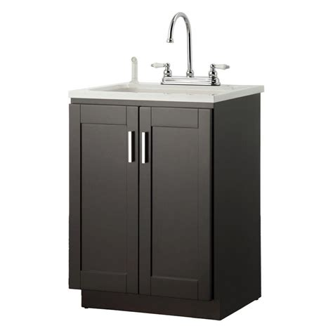 laundry sink with cabinet foremost palmero 24 in laundry vanity in espresso brown and abs sink in white and faucet kit