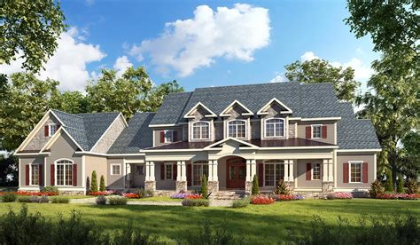 Colonial Farmhouse house plan 58272 at familyhomeplans com