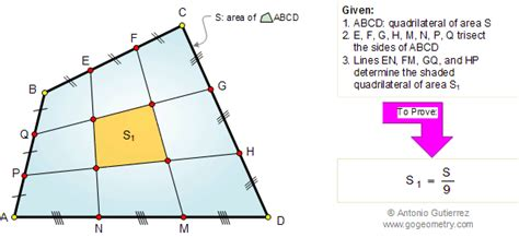the area geometry classes problem 178 quadrilateral trisection