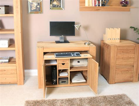 hideaway desks home office palma solid chunky oak furniture home office pc