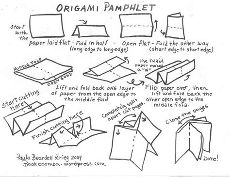 origami booklet design practice fold layout