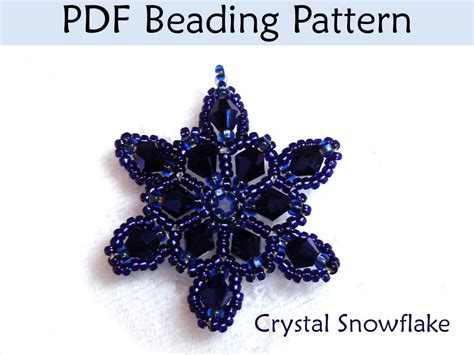 beading pdf beading tutorial pattern necklace pendant winter