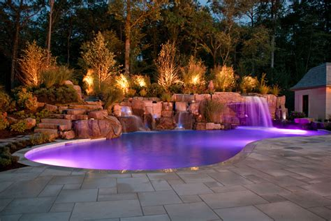 landscape lighting around pool complete landscape design outdoor living by new jersey company