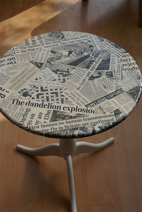 Decoupage A Table With News Clippings Dabs Creative