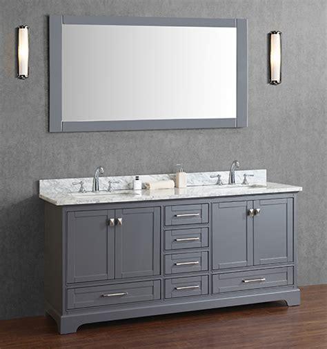 72 sink bathroom vanity anele 72 inch gray sink bathroom vanity set with mirror