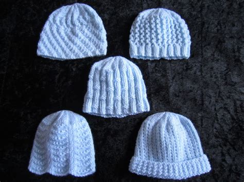 tiny baby hat knitting pattern premature small baby knitting pattern for 5 hats 4 ply