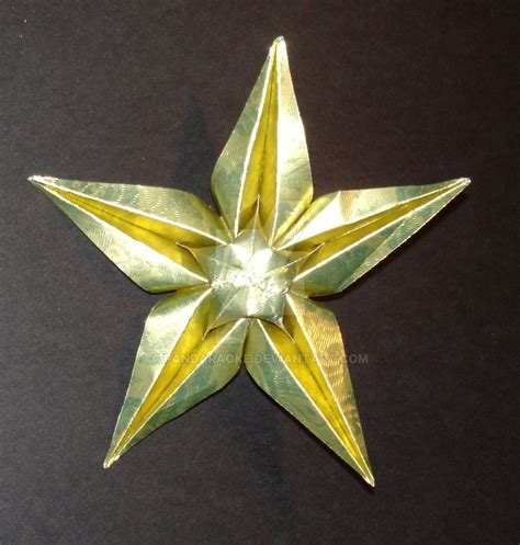 5 point origami 5 point origami ornament by pandaraoke on deviantart