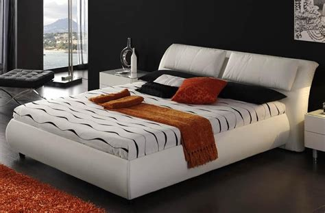 modern master bedroom furniture black leather beds cosmo black or white faux leather bed