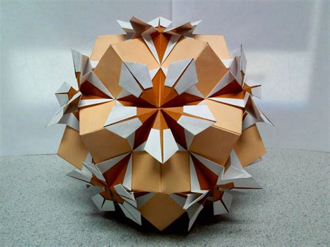 origami sphere estrella flor origami by theorigamiarchitect on