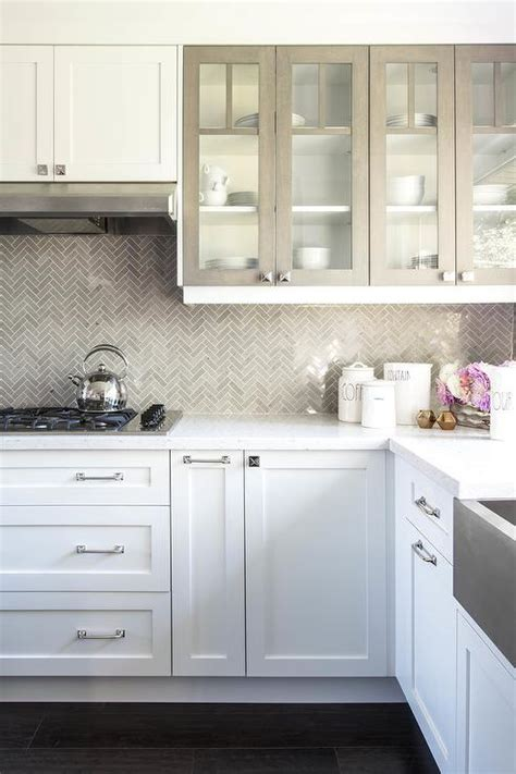 white kitchen cabinets with glass doors white kitchen cabinets with gray framed glass doors