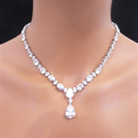 rhinestone pendants jewelry rhinestone statement necklace set bridal statement necklace