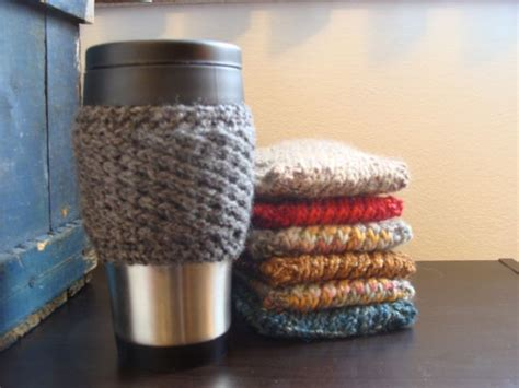 free knitting pattern coffee cup sleeve free knitted coffee mug cozy pattern just cause