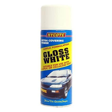 spray paint uk hycote gloss white aerosol 400ml spray paint
