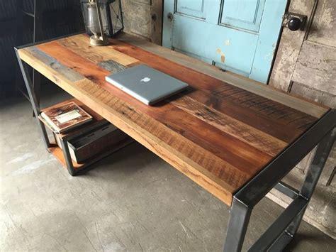 wood office desk weathered reclaimed wood desks wood desk
