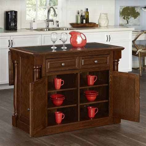 kitchen islands oak monarch oak kitchen island with granite top 5006 945 the home depot