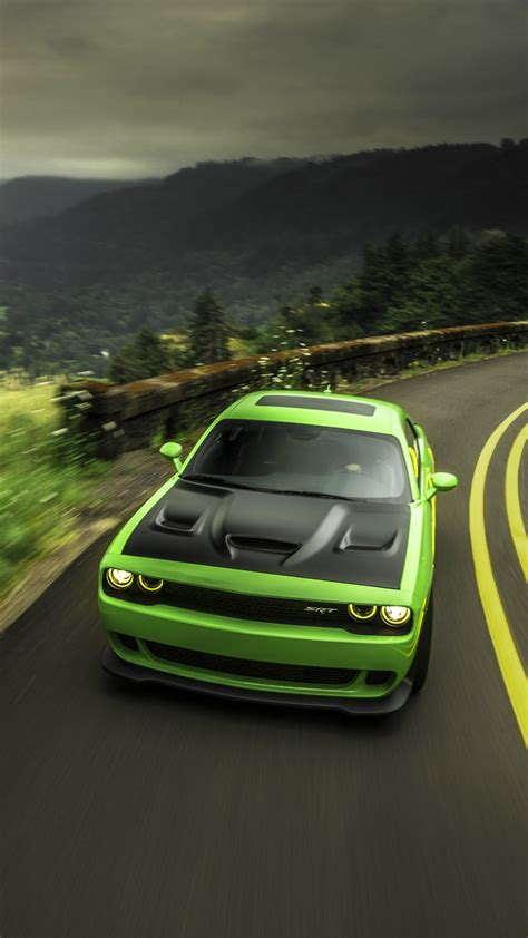 Awesome Car Wallpapers 2017 2018 Winter by Dodge Challenger Srt Green Iphone Wallpaper Iphone