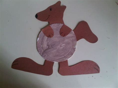 kangaroo crafts for ellie s project paper plate kangaroo my