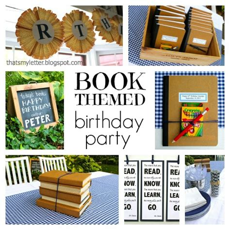 picture book themes that s my letter quot b quot is for book themed birthday