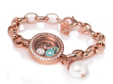 owl origami bracelet origami owl rosegold link lockets bracelet san diego