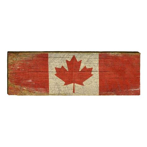 wooden canada canadian flag wood blue lighthouse