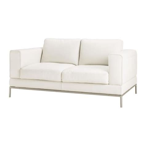 ikea white leather sofa arild two seat sofa karakt 228 r bright white ikea