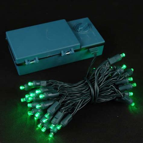 led green lights 50 led battery operated lights green on green
