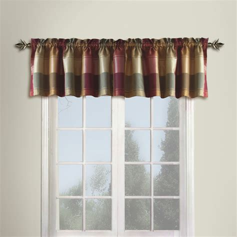 curtain for kitchen united curtain plaid window valance valances at hayneedle