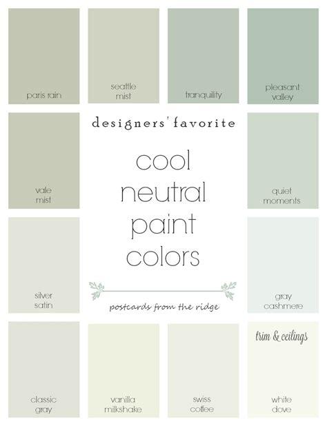 paint colors decorators use designers favorite cool neutral paint colors postcards