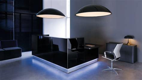 modern design desks modern black reception desk design for office with light