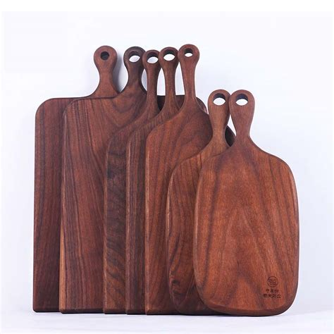 Vintage Kitchen Knives black walnut wood bread and fruit cutting board natural