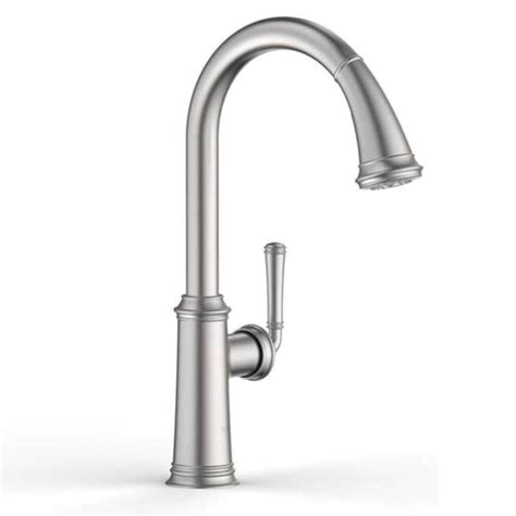 grohe faucet kitchen shop grohe gloucester stainless steel 1 handle deck mount pull kitchen faucet at lowes