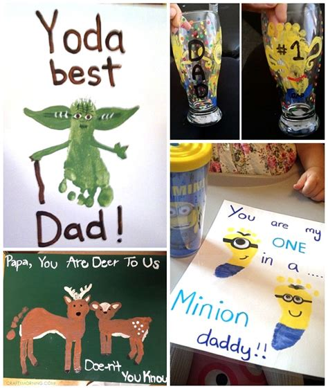 fathers day kid crafts s day footprint gift ideas from the crafty