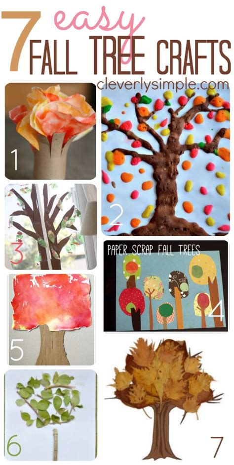 simple fall crafts for easy fall tree crafts for simple recipes diy
