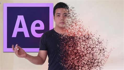 in the tutorial after effects tutorial disintegration effect