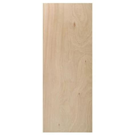 home depot interior slab doors 18 in x 80 in flush hardwood unfinished hollow