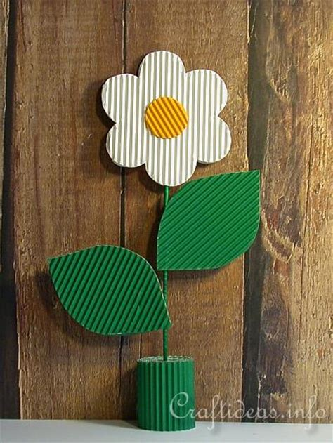 corrugated paper craft s day craft for corrugated cardboard flower