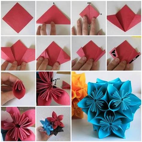 how do you make origami flowers how to make beautiful origami kusudama flowers beautiful