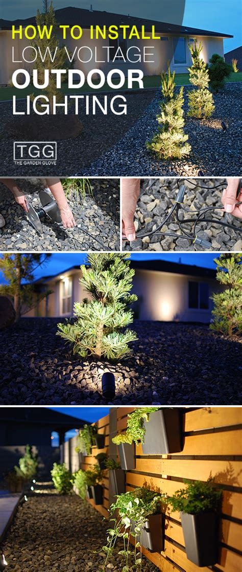 install low voltage landscape lighting how to install low voltage outdoor lighting the garden glove