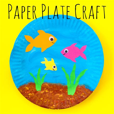paper fish bowl craft paper plate fish bowl doodle and stitch