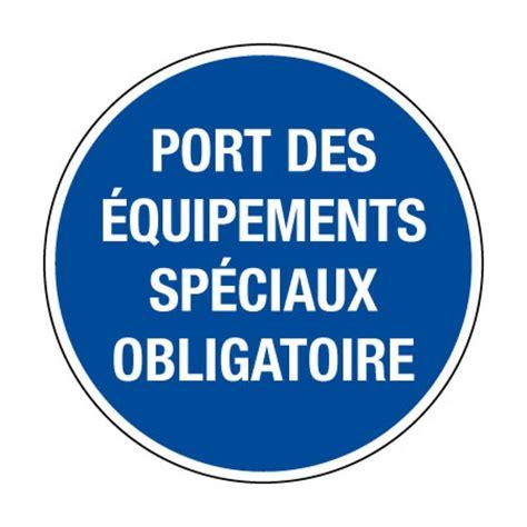 ob24 picto pvc port 233 quipements sp 233 ciaux obligatoire pictogramme s 233 curit 233 au travail