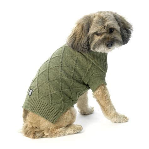 cable knit sweater for dogs cooper s cable knit sweater green tweed at baxterboo