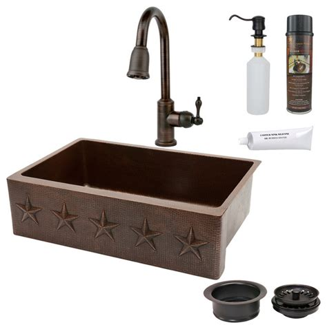 rustic kitchen sinks 33 quot kitchen apron sink w orb faucet rustic