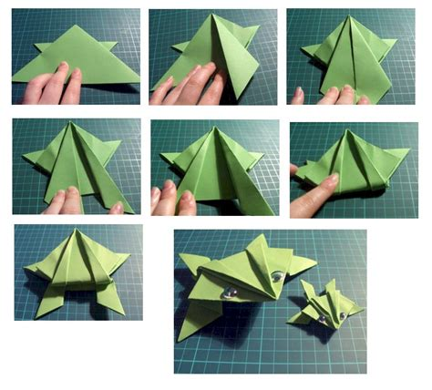 origami frog template origami frog