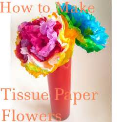 how to make from flowers how to make tissue paper flowers my strange family