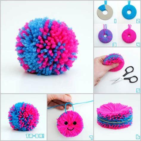 easy yarn crafts for easy diy yarn pompom tutorial easy diy projects diy tag