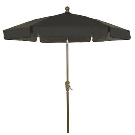 home depot patio umbrellas fiberbuilt umbrellas 7 5 ft patio umbrella in black